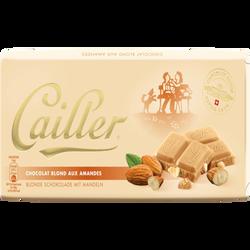 Tablette de chocolat blond aux amandes CAILLER, 100g
