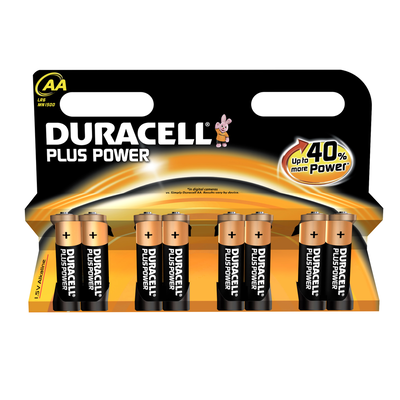 8 Piles LR06 AA Power Plus DURACELL