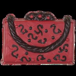 Coffret sac à mains rouge chocolat noir décoré, 270g
