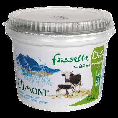 Fromage frais bio d'Alsace en faisselle CLIMONT, 500g