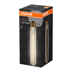 Ampoule led 1906 osram tube 35w e27 verre filament clair or
