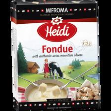 Prpéaration pour fondue aux fromages, prête à l'emploi, 16% de MG, HEIDI, 400g