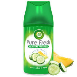 Recharge désodorisant actifs fraîcheur pure fresh concombre et melon AIR WICK, 250ml