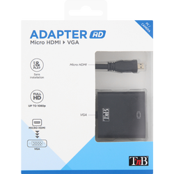 ADAPTATEUR MICRO HDMI VERS VGA TNB NOIR