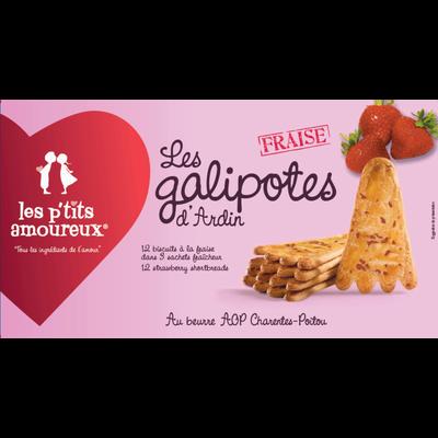 Galipotes aux fraises LES PETITS AMOUREUX, paquet de 120g