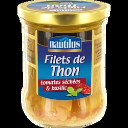 Filets de thon aux tomates et au basilic NAUTILUS, 135g