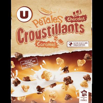 Pétales croustillantes chocolat caramel U, paquet de 375g