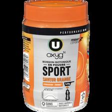 Boisson isotonique en poudre sport orange U OXYGN, 500g