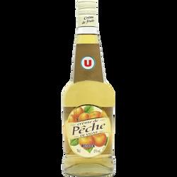 Crème de pêche de vigne U, 15°, bouteille de 70cl