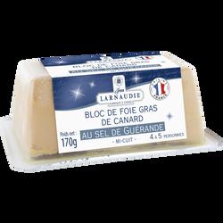 Bloc de foie gras de canard au sel de Guérande JEAN LARNAUDIE, 170g