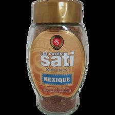 Café lyophilisé du Méxique soluble SATI, paquet de 100g