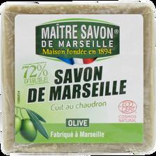 Savon de Marseille à l'huile d'olive cuit au chaudron MAÎTRE SAVON DEMARSEILLE, 300g