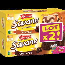 BROSSARD savane mixte chocolat x1/tout chocolat x1 620g