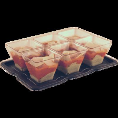 Verrines à la crème de pesto, tomates mi-séchées et parmesan MIX BUFFET, 6x45g