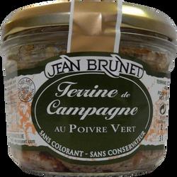 Terrine de campagne au poivre vert JEAN BRUNET, 180g