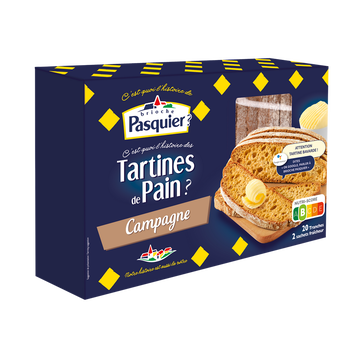 Pasquier Tartine De Pain Campagne Brioche Pasquier, 180g