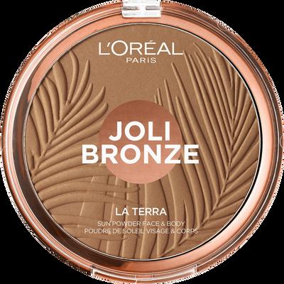 Fond de teint en poudre la terra joli bronze 01 portofino leggero blister L'OREAL PARIS