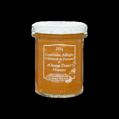 Confiture allégée d'abricot de provence et d'orange douce ALBERT MENES,265g