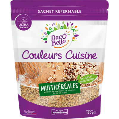 Mélange de graines multi-céréales (tournesol,sésame,lin,seigle), PAINFUTE, sachet refermable 150g