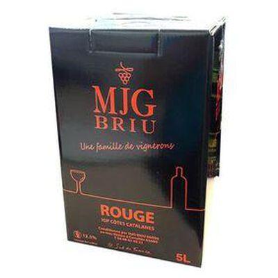 Vin rouge MJG BRIU, IGP Côte Catalane - BIB de 5L