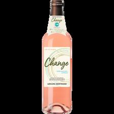 Syrah Vin Rosé Igp Pays D'oc Grenache  Cabernet Sauvignon Change, Bouteille De 75cl