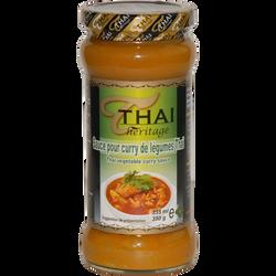 Sauce curry légumes THAI HERITAGE, 350g