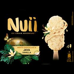 Crème glacée CHOCOLATE&JAVA VANILLA NUII, X4 268G