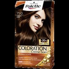 Coloration permanente châtain doré n°750 PALETTE