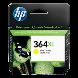 Cartouche d'encre HP pour imprimante, CB325EE jaune n°364XL, sous blister