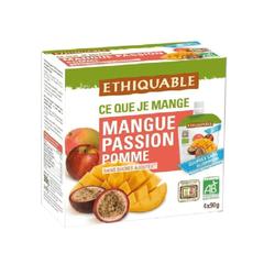 Gourdes Purée mangue passion pomme BIO 4x90g - Ethiquable