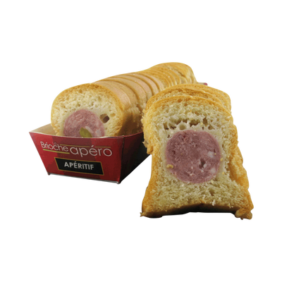 Brioche fourrée au saucisson pistaché tranché LE BISTRONOME, 210g