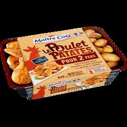 Poulet patates, MAITRE COQ, barquette, 620g