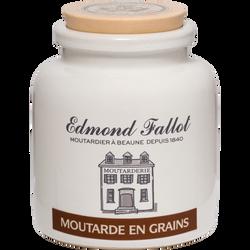 Moutarde en grains EDMOND FALLOT, pot en grès 500g