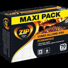 Allume-feux classique double bloc éconaturel ZIP, 70 cubes