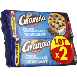 GRANOLA maxi cookies chocolat Lu paquet 2 paquets de 276g