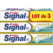 Signal Dentifrice Intégral Interdentaire Signal, 3 Tubes De 75ml