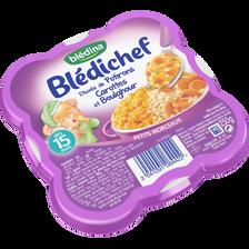 BLEDICHEF étuvée de potiron carotte et boulghour dès 15 mois, assiettede 250g