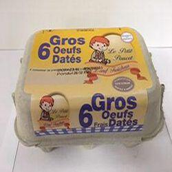 OEUFS DATES GROS X6