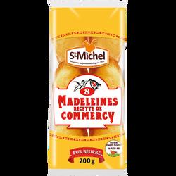 Madeleine pur beurre traditionnelle recette de Commercy SAINT-MICHEL,x8, barquette de 200g