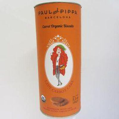 Biscuits Bio gâteau aux carottes PAUL AND PIPPA,150g