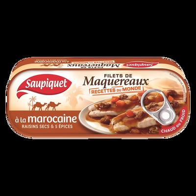 Filets de maquereaux à la marocaine recettes du monde SAUPIQUET, 1/4,169G
