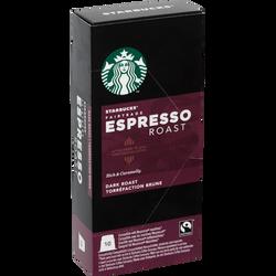 STARBUCKS espresso Roast compatibles Nespresso, 10 capsules de 55g