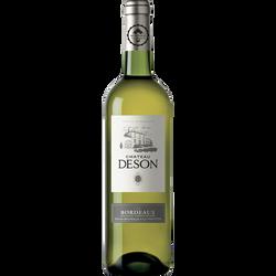 Vin blanc AOC Bordeaux sec Château deson, 75cl