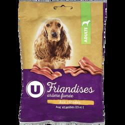 Friandises pour chien arôme fumée aux céréales U, sachet de 85g