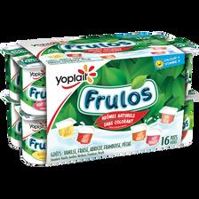 Yaourts sucrés aromatisés panachés FRULOS, 16x125g