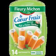 Fleury Michon Bâtonnets De Surimi Au Fromage Ail Et Fines Herbes Fleury Michon, 14 Unités Soit 224g