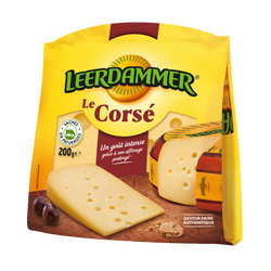 Fromage pasteurisé Corse LEERDAMMER 30,5%MG bloc 200g