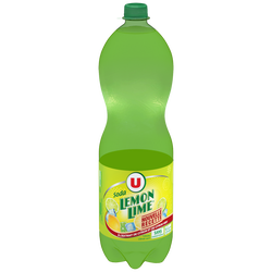 Boisson gazéifiée à l'extrait de citron et de citron vert avec sucreet édulcorant 1,5L