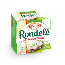 Fromage au lait pasteurisé de chèvre, 32%mg, Rondelé PRESIDENT, 125g