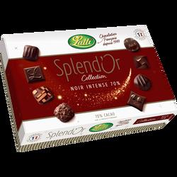 Chocolat noir splendor LUTTI, boîte de 390g